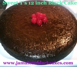 Jamaican black cake 12 inch